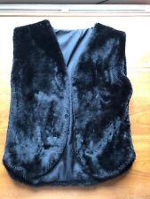 Vintage Black Faux Fur Gilet