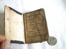 TOUT PETIT LIVRE RELIGIEUX SENTENCE PRATIQUE 1845