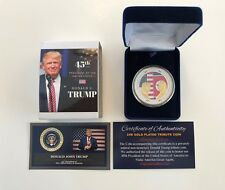 Donald Trump - Kim Jong-Un ..KOREAN Peace Talks Summit  Commemorative Gold Coin