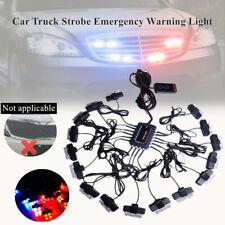 1*Car Trucks 16X2 LED Dash Emergency Vehicle Strobe Lights For Front Grille Deck