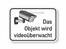 Das Objekt wird videoüberwacht - Aufkleber 15 x 10,5 cm Videoüberwachung