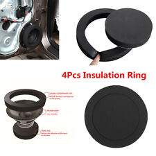 4Pcs 6.5'' Speaker Ring Bass Sound Insulation Cotton Self Adhesive For Car Door