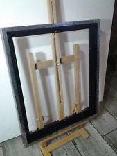Encadrement Caisse américaine en bois , Satinée Noire et Argentée ,Format Figure