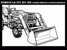 KUBOTA LA272 LA391 LA392 SERVICE & PARTS MANUALS for B1700 B2100 Loader Tractors