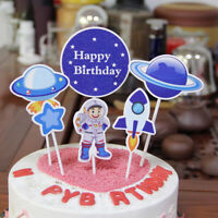 Astronaut Space Theme Party Tableware Cake Topper Birthday Party Decoration SE