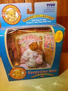 1995 Tyco Vermont Teddy Bear Sleepytime Bear Pocket Collection In Box NOS