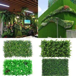 2/6/12 Plant Fake Mat Greenery Wall Hedge Grass Fence Foliage Panel  Decor #N02