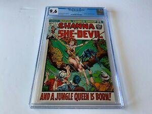 SHANNA THE SHE-DEVIL 1 CGC 9.6 WHITE PS ORIGIN 1ST APPEARANCE MARVEL COMICS 1972