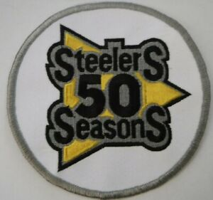 PITTSBURGH STEELERS 1982 50TH ANNIVERSARY PATCH  UNIFORM WHITE AWAY PATCH