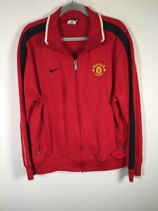 Manchester United FC Nike mens red zip up jacket size XL long sleeve football