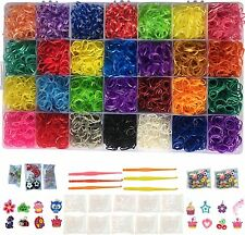 Rainbow Loom Rubber Bands Refill 11000pc Bracelet Kit Storage Case Organizer