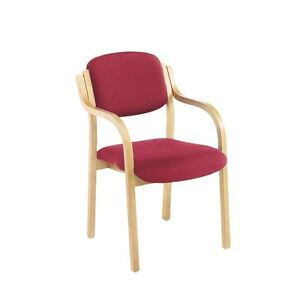 Jemini Wood Frame Side Chair With Arms Claret KF03515 [KF03515]