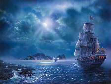 Full drill Diamond Painting Seascape Sailing Boat Hand Embroidery Crafts 6708H