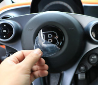 Logo Brabus in rilievo 57mm sul volante Mercedes Smart ForTwo III 453