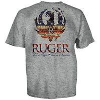RUGER FIREARMS AMERICAN EAGLE ARMY FLAG GUN MILITARY MENS T TEE SHIRT S-3XL
