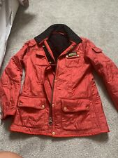 Ladies Barbour Quilted JacketRed Size 12