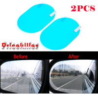 2xAnti Fog Rainproof Car Oval Rearview Mirror Protective Film Shield Accessory ~