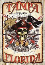 Tampa Florida, Jolly Roger Flag, Pirate Skull Needs Dental Work, Ship - Postcard