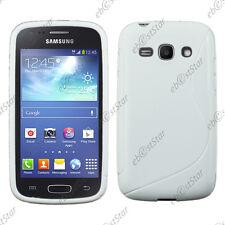 Housse Etui Coque Silicone Motif S-line Gel Blanc Samsung Galaxy Ace 3 S7270