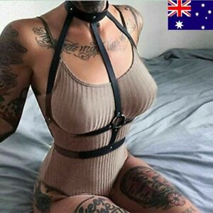 Sexy Lady Lingerie Straps Bra belt Suspenders Leather Harness Body Bondage Belt