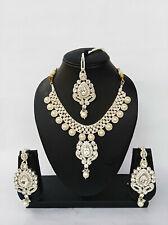 Indian Bollywood Style Rose Gold Fashion Jewelry Designer Necklace Set