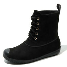 Womens Ankle Boots Girls Retro lace up Rain Snow PVC Waterproof Wellies Shoes