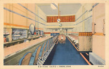 PROVO, UTAH - SUTTON CAFE - INTERIOR - VINTAGE CURTEICH LINEN POSTCARD VIEW