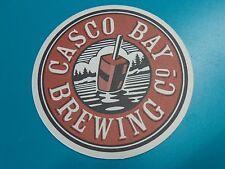 Cool Beer COASTER ~ Shipyard's CASCO BAY Brewing ~ Portland, MAINE Micro Brewery