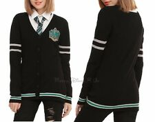 NEW Harry Potter Slytherin House Cardigan Sweater Juniors XS Cosplay School