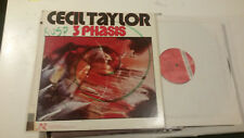 LP Cecil Taylor 3 phasis US 1979 gatefold jazz phases new world records original