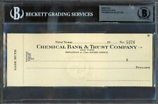 BABE RUTH Vintage Unsigned Check w/ Stub Beckett BAS Authentic Yankees HOF