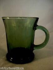 Collectible ANCHOR HOCKING Dark Green Glass Mug - MORE AVAILABLE