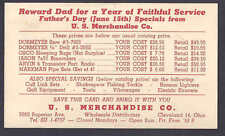 1958 U.S.MERCHANDISE TOOLS, ETC ON SALE FOR FATHERS DAY,CLEVELAND OH