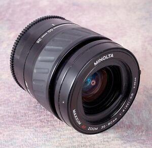 Minolta MAXXUM 35-80mm Zoom Lens SONY AF Mount or adapt to Mirrorless Cameras