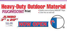 Now Open Banner Sign 20 Feet new business new management owner grand opening