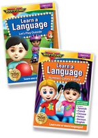 Learn a Language 2 DVD Set by Rock 'N Learn (6 languages per DVD) (NEW)