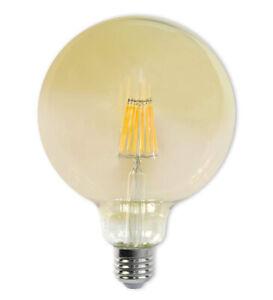 Lampadina led filamento vintage 12 watt e27 ambrato globo g125 luce calda 2600 k