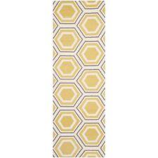 Safavieh Flat weave Ivory/ Yellow Wool 2' 6 x 6' Runner