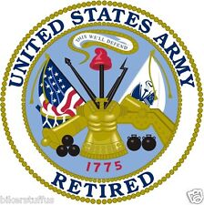 US ARMY RETIRED TOOLBOX STICKER LAPTOP STICKER HARDHAT STICKER