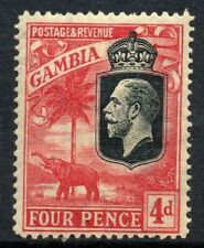 GAMBIA Stamps 1922  SG 118  4d Red/Yellow Wmk MCCA  Mounted Mint