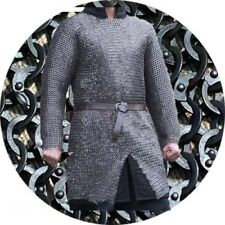 Flat Riveted With Flat Washer Chainmail Antique shirt 9 mm XL Full Sleeve OILED