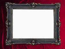 Wall Mirror Black Gold Antique Baroque Rococo 90x70 Decoration