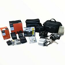 Lot of Cameras, Lenses, Video, Vintage Leather Cases Sony Minolta Canon Samsung