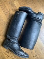 Wwii German Riding / Cavalry Boots Leather 16� Tall