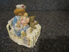 San Francisco Music Box Nurse, Doll, Teddy Bear Figurine Spoonful of Sugar