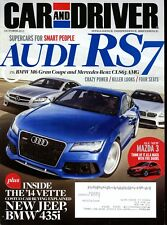 Car and Driver Magazine October 2013 Audi RS7, BMW M6 Gran Coupe, Mercedes CLS63