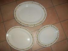 "Three Antique J Meakin Serving Platters 14"", 12"" & 10"""