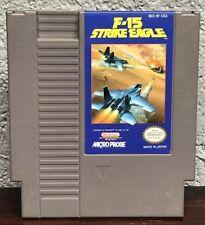 Vtg Nintendo NES F-15 Strike Eagle Flight Simulator Desert Storm Tested Works