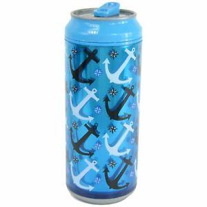 Cool Gear Can, 16 oz, Anchors Blue