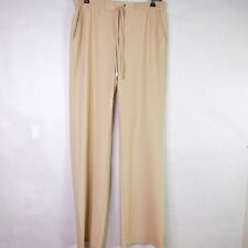 Raffaello Rossi Amy Beige Stretch Waist Pants Pull On  Style 2500 981 Size 38 M